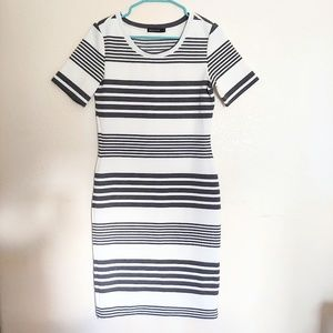Mikarose Striped Fitted Dress